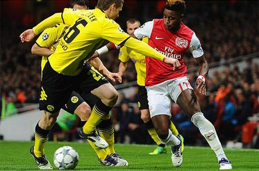 Midfield general: Alex Song's return has coincided with Arsenal's winning run. Photo: Getty Images