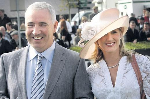 LOOKING TO THE FUTURE: Sean Dunne and his wife Gayle Killilea