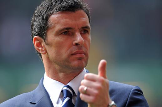 Gary Speed during the Euro 2012 qualifying match between Wales and England at the Millennium Stadium on March 26. Photo: Getty Images