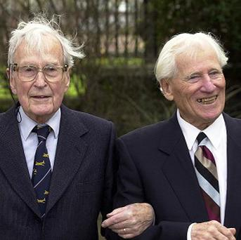 Bertram 'Jimmy' James, left, and Sydney Dowse survived the Great Escape at Stalag Luft camp in 1944