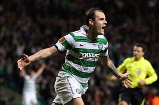 Celtic forward Anthony Stokes. Photo: Getty Images