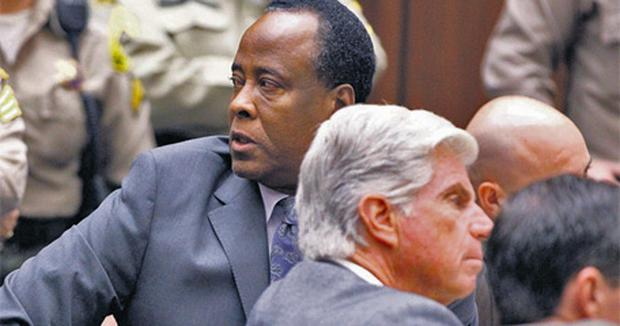Conrad Murray in court yesterday where he was sentenced to four years for the involuntary manslaughter of pop star Michael Jackson