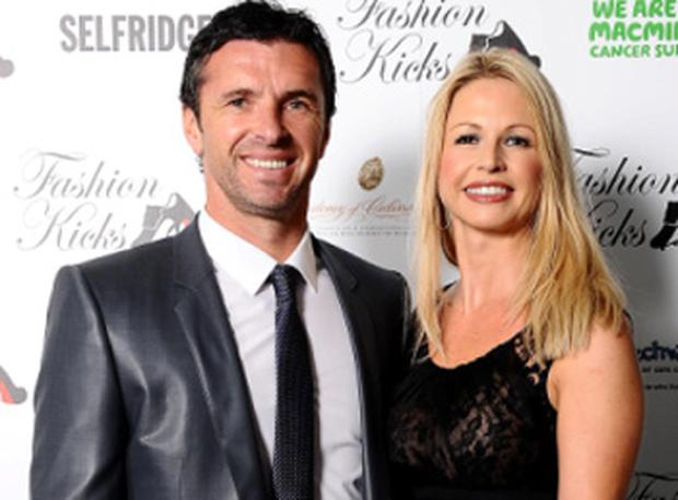 Gary Speed pictured recently with his wife Louise