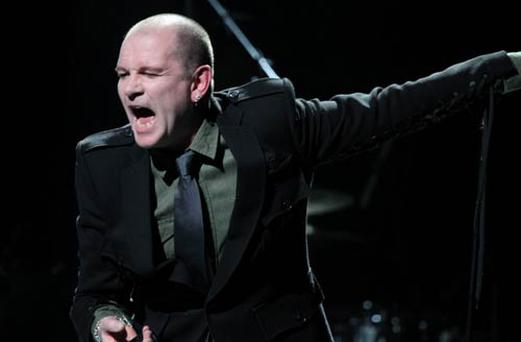 Gavin Friday performs at the Olympia Theatre last night.