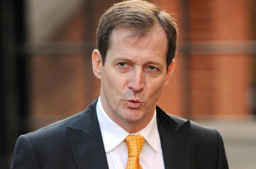 Alastair Campbell, former Director of Communications and Strategy to Prime Minister Tony Blair arrives at the High Court in London to give evidence to the Leveson Inquiry today. Photo: PA