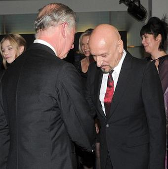 Sir Ben Kingsley meets Prince Charles at the royal premiere of Hugo in Leicester Square, London