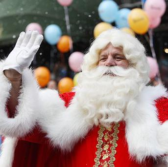 A Father Christmas had his beard pulled off by two youths in Longton, Staffordshire