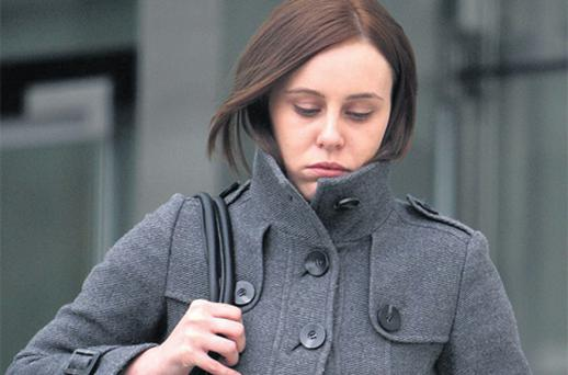 Claire Nolan outside the Central Criminal Court yesterday. Photo: Courtpix