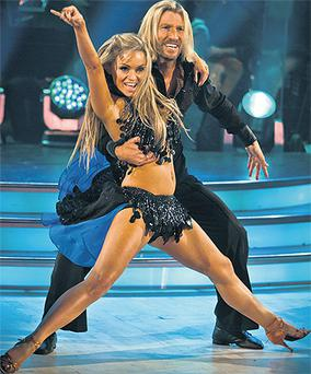 Strictly's Robbie Savage and Ola Jordan