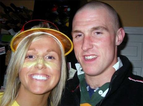 RTE presenter Jacqui Hurley pictured with brother Sean