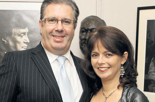 The late broadcaster Gerry Ryan with Melanie Verwoerd, who was sacked from her role as CEO of UNICEF earlier this year. Photo: GARETH CHANEY COLLINS