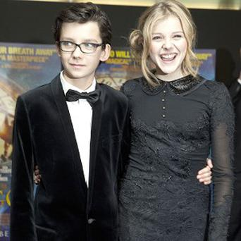 Asa Butterfield and Chloe Moretz hung out together when they weren't filming