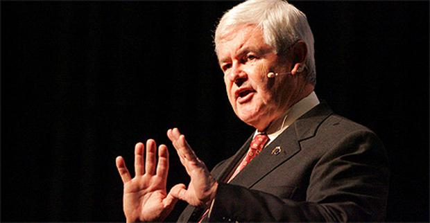 Republican presidential hopeful Newt Gingrich