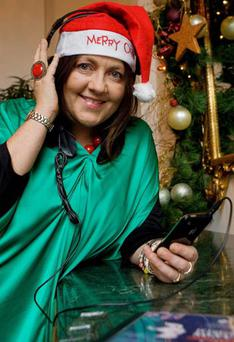 Brenda Drumm with her charity Christmas single