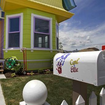 A couple from California have bought a house which is a full-scale model of the home in the Disney movie Up (AP)
