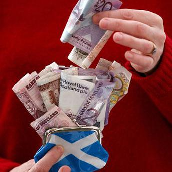 A survey has revealed that Scots would vote for independence if it made them 500 pounds a year better off