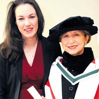 Olivia O'Leary with her daughter Emily