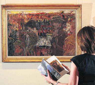 Jack B Yeats's painting, Jazz Babies, which sold for €480,000 at auction yesterday. Photo: PA