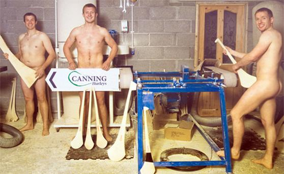 The Canning brothers Ivan, Joe and Ollie in the Portumna GAA Calendar 2011