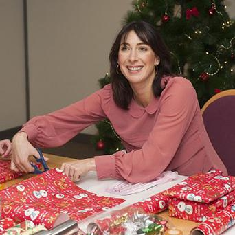 Samantha Cameron has banned her husband from helping to decorate their Christmas tree, the PM says in an interview