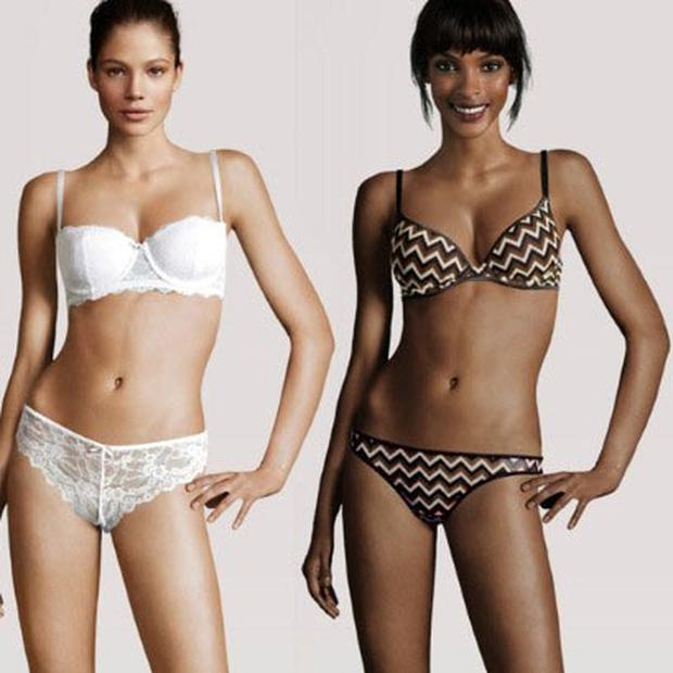 Same body, different heads at H&M. Photo: H&M