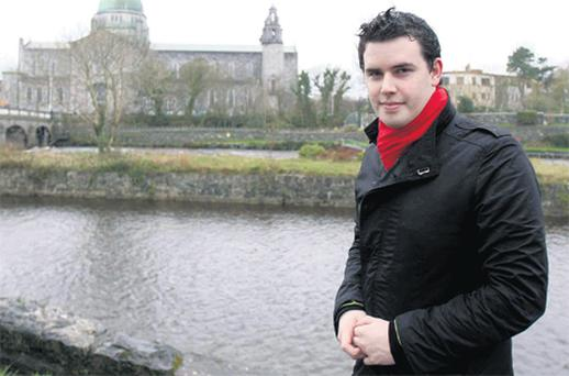 Patrick Conboy, pictured above in Galway City, says he will be forced to emigrate like so many of his friends once he completes his Master's in Public Law