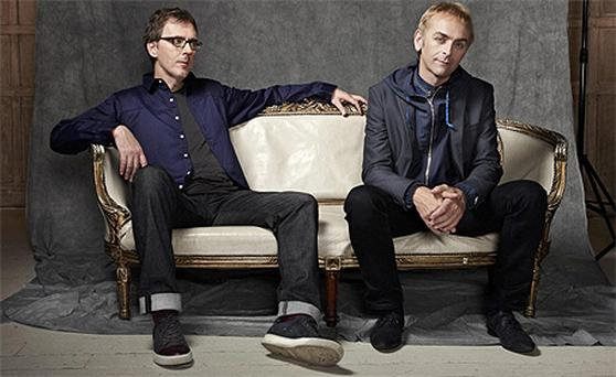 Karl Hyde (right) and Rick Smith (left) of dance act Underworld