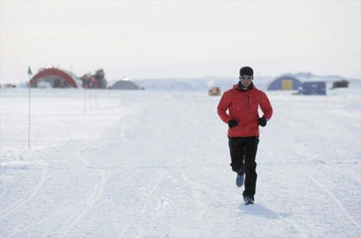 Ultramarathon runner Richard Donovan, from Galway, who braved some of the coldest temperatures on the planet to set a new record running 100 miles in a day