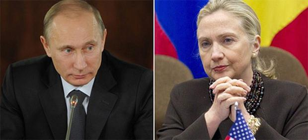 Vladimir Putin has accused Hillary Clinton of inciting protests in Russia