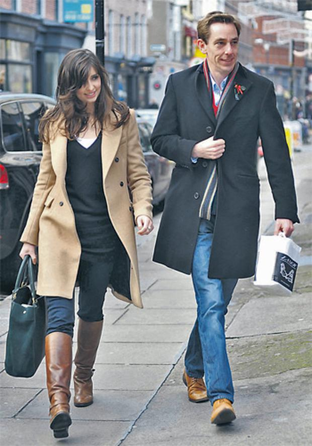 Aoibhinn Ni Shuilleabhain and Ryan Tubridy take a stroll down Grafton Street together