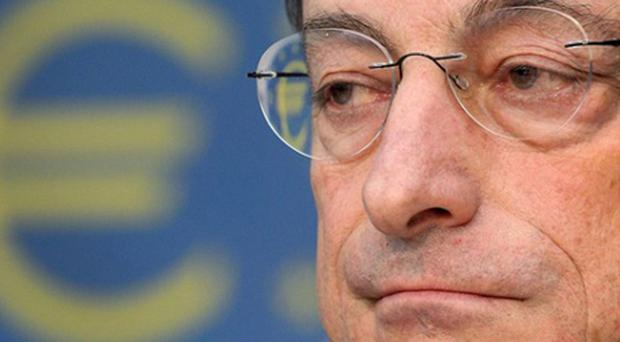 Mario Draghi, the ECB's president, said the bank had not agreed to any sort of 'Grand Bargain' with EU leaders to act as lender of last resort for sovereign states, insisting that it does not have a legal mandate to rescue sovereign states in trouble