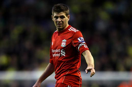 Steven Gerrard: still recovering from ankle infection. Photo: Getty Images