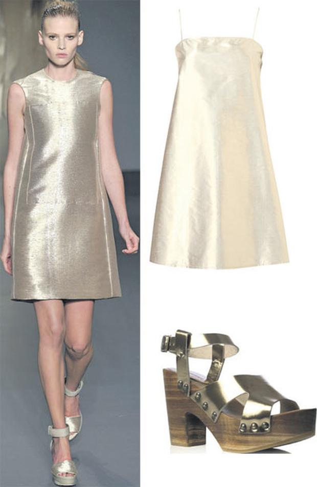 Dress, €120 at Topshop.com; Shoes, €85 at Brown Thomas