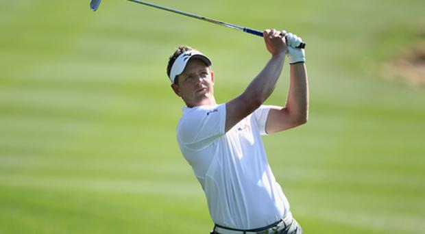 Luke Donald was one under par and only joint 30th with three holes to play. Photo: Getty Images