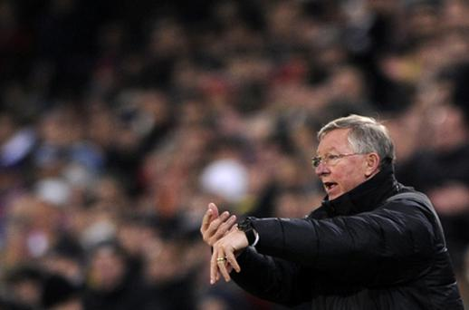 Alex Ferguson insists Manchester United will be going all out to win the Europa League. Photo: Getty Images