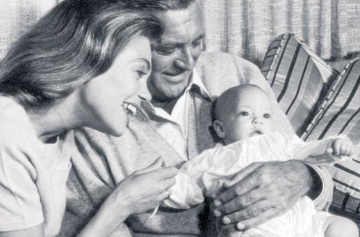 Cary Grant, Dyan Cannon and daughter Jennifer