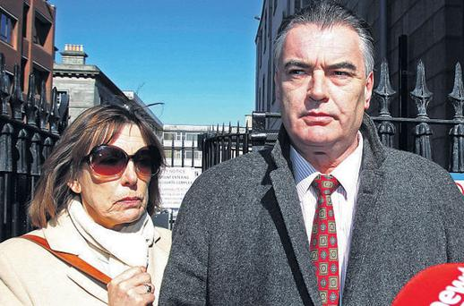 Ian Bailey and his partner Jules Thomas outside the High Court in Dublin