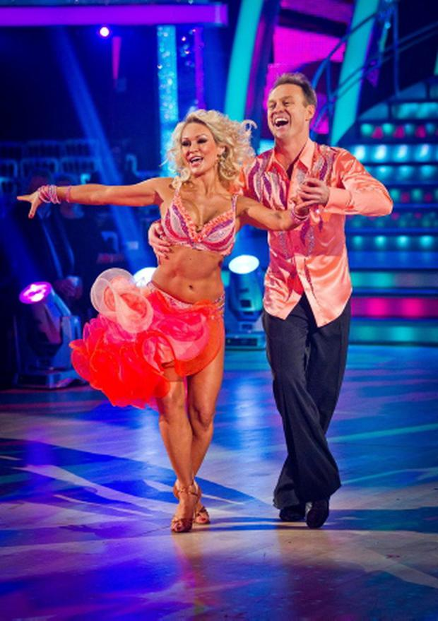 Embargoed to 2015 Saturday December 10For use in UK, Ireland or Benelux countries only. BBC handout photo of Jason Donovan and Kristina Rihanoff dancing during dress rehearsals for the BBC programme Strictly Come Dancing. Issue date: Saturday December 10, 2011. See PA story SHOWBIZ Strictly. Photo credit should read: Guy Levy/BBC/PA Wire NOTE TO EDITORS: Not for use more than 21 days after issue. You may use this picture without charge only for the purpose of publicising or reporting on current BBC programming, personnel or other BBC output or activity within 21 days of issue. Any use after that time MUST be cleared through BBC Picture Publicity. Please credit the image to the BBC and any named photographer or independent programme maker, as described in the caption.