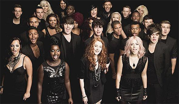 The X-Factor contestants. Photo: PA