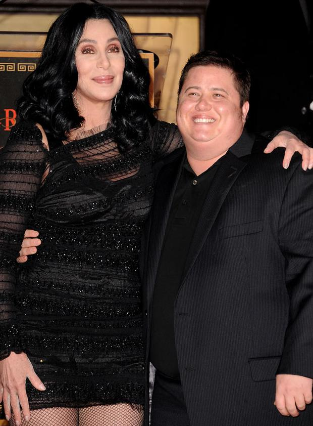 Cher and Chaz Bono. Getty Images