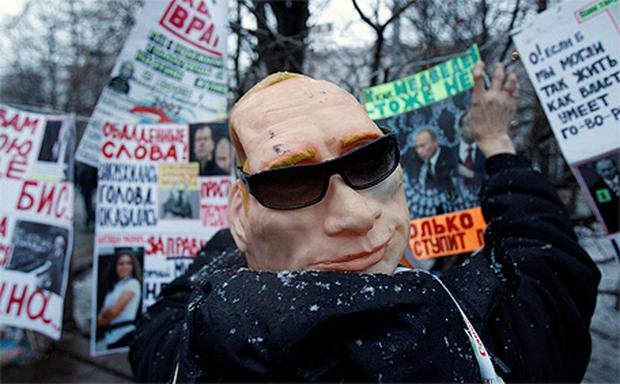 Protestors in Russia demonstrate against what the say was a rigged election