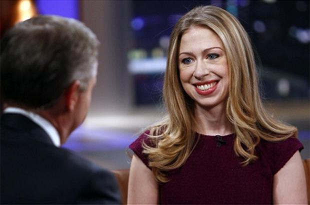 Chelsea Clinton appears on Rock Center with Brian Williams in New York. Photo: AP