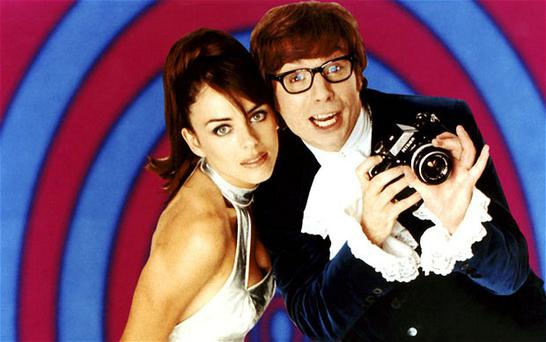 Mike Myers and Elizabeth Hurley in 'Austin Powers: International Man of Mystery'