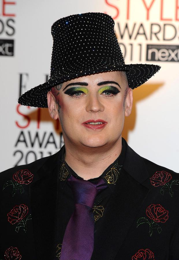 File photo dated 14/02/11 of Boy George who has revealed an unlikely inspiration behind the Culture Club reunion - American folk duo Simon and Garfunkel. PRESS ASSOCIATION Photo. Issue date: Monday December 12, 2011. See PA story SHOWBIZ George. Photo credit should read: Ian West/PA Wire