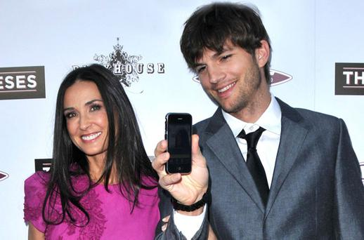 Demi Moore and Ashton Kutcher.