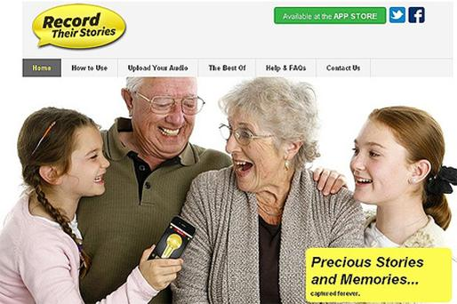 Record Their Stories is new app which allows families to create audio memories