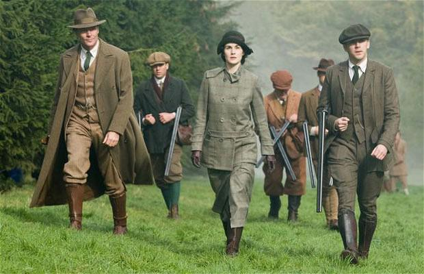In the two-hour episode of Downton Abbey, Richard Carlisle, left, tries to exercise power over Lady Mary, centre, as Matthew Crawley keeps close by, right.