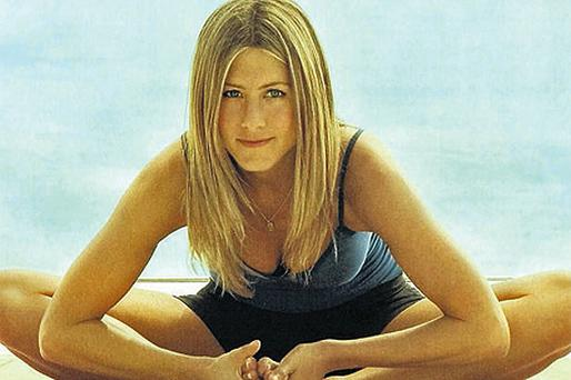 Bent into shape: Jennifer Aniston is a huge fan of yoga, and this powerful variation can really burn the calories