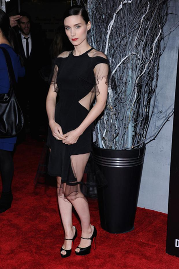 Rooney Mara in Prabal Gurung at the New York premiere of The Girl With the Dragon Tattoo. Photo: Getty Images