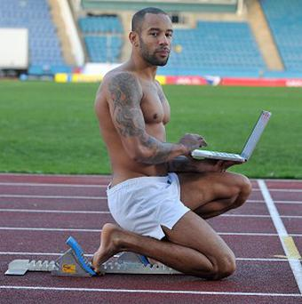 Sprinter James Ellington turned to an online auction site to find sponsorship in his race to compete in the 2012 Olympic Games